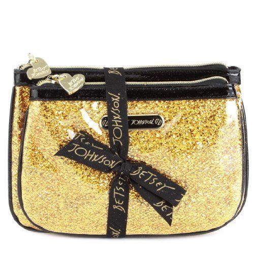 Betsey Johnson 2 Piece Cosmetic Set-Gold Betsey Johnson. $29.99. Save 38% Off!