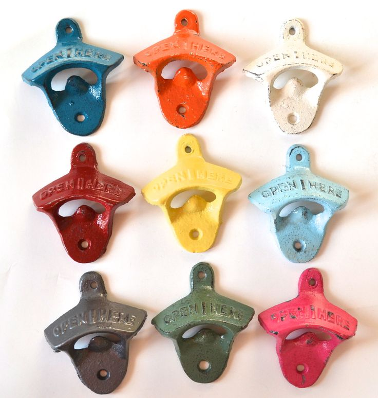 Wall Mount Bottle Opener  18 COLORS TO CHOOSE  by NevermoreGifts, $6.50