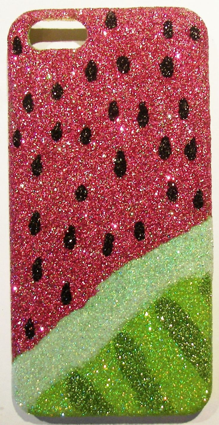 Glitter Sparkly Watermelon iPhone 4/4G OR 5 Cell Phone Case. $27.00, via Etsy.