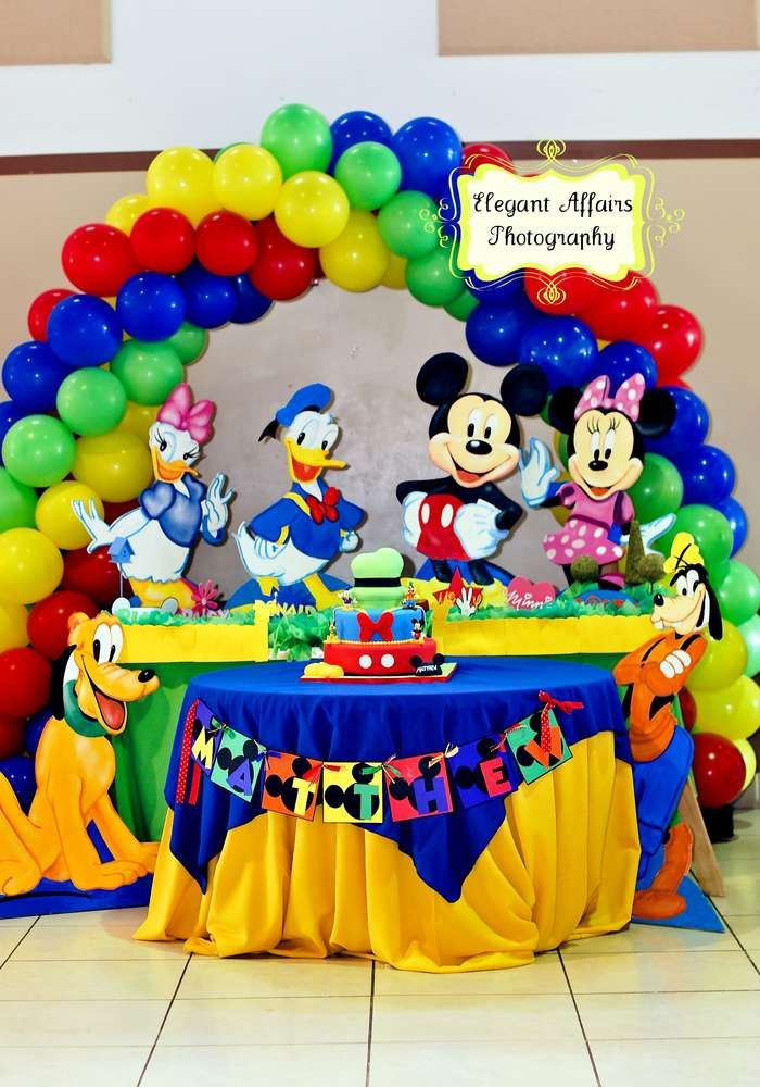Matthew's 1st Mickey Bash!  | CatchMyParty.com