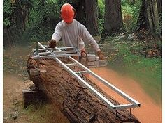Portable saw mill rig.