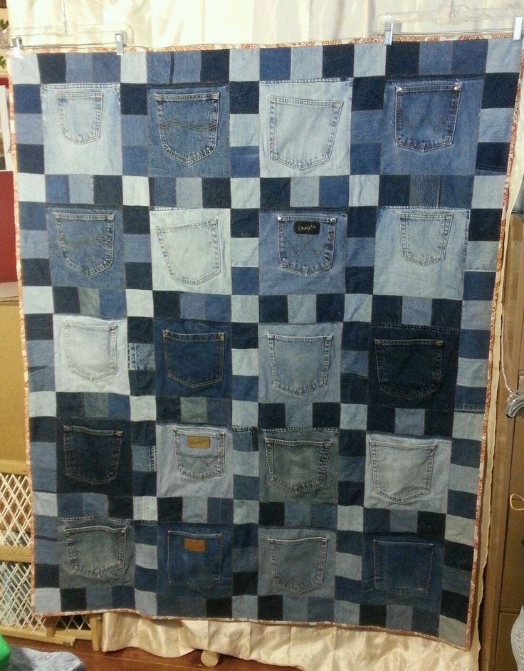 rag quilt quilts denim full denimcircleragquiltrecycledjeans circle jeans quilting article dazzling recycled patterns