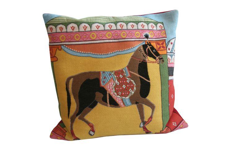 decorative tapestry  horse cushion