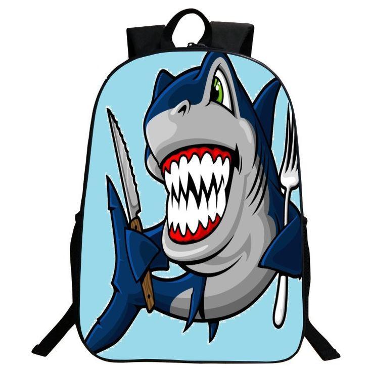 2017 Cute Cartoon Shark School Bags Child Backpack Kids Mochila For Boys Backpack 3D Printing Children SchoolBags Boy's Backpack