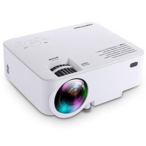 Mini projecteur db DBPOWER T20 1500 Lumens, projecteur vidéo multimédia home cinéma avec prise en charge 1080p/HDMI/USB/carte SD/VGA/AV,…