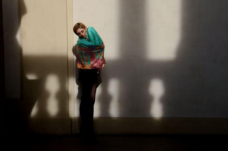 Kinloch Women Foulard on Accademia delle Belle Arti in Brera, Milan #milan #silk