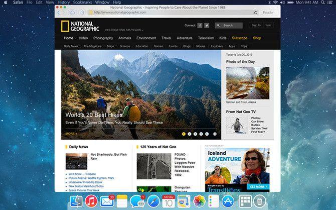 Mac OS X Yosemite: Safari