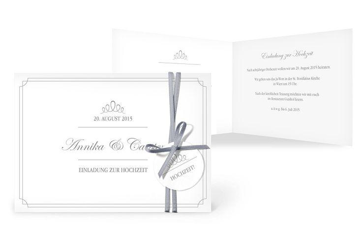 """Einladungskarte Hochzeit """"Noblesse"""""""