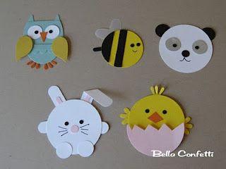 Circle punch animals!: Art Animal, Kids Crafts, Doors Decs, Paper Punch, Punch Art, Circles Punch, Paper Crafts, Easter Ideas, Punch Animal