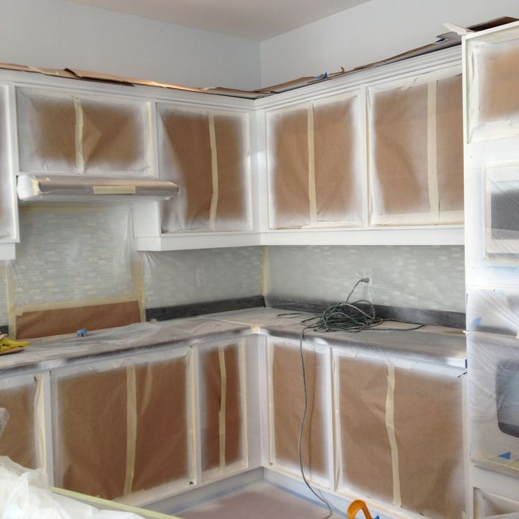 Spary Painting and Refinishing Cabinets - Base Cabinets