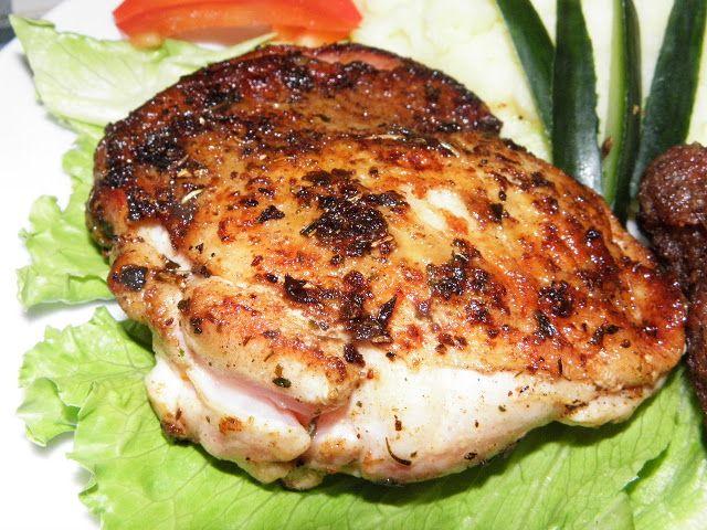 Tárcsán sült fűszeres csirkecombok