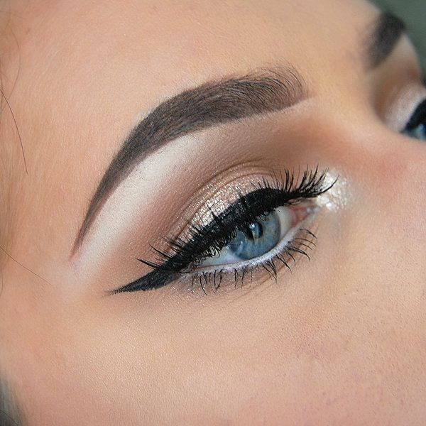 Highlighting the corners and above the brow bone one of my favorite makeup trends. It's also a great way to hide tired eyes! #makeup #wingedtip