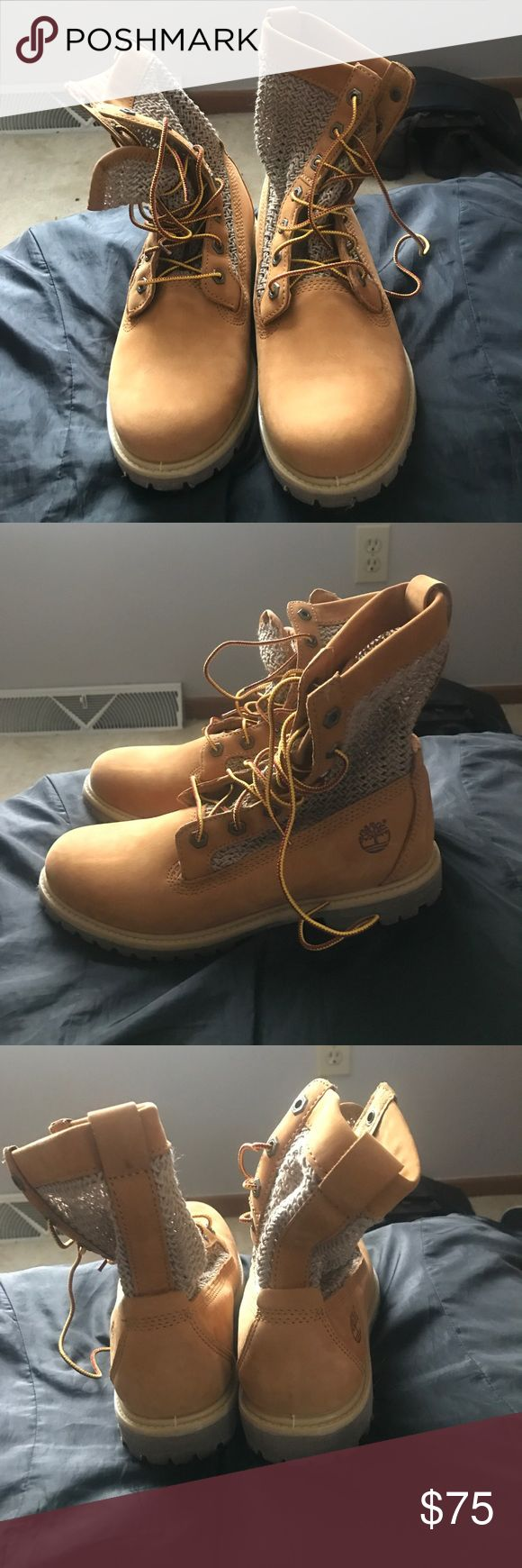 Timberland boots Size 9 women's. Good condition. I only wore once, so minimal signs of wear. No box Timberland Shoes