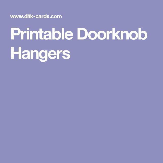 Printable Doorknob Hangers