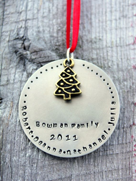 Family Christmas Ornament Personalized by whiteliliedesigns, $22.00