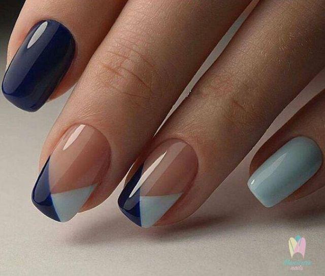 chevron triangle nails