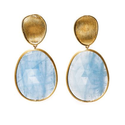 It's a Mod, Mod World - Marco Bicego gold and aquamarine earrings