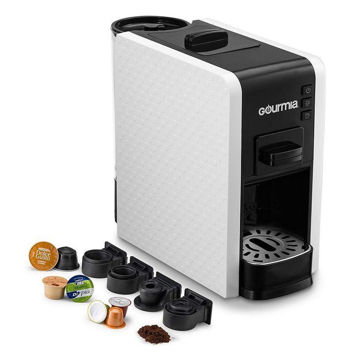 Gourmia Espresso Machine & Single Serve Pod Coffee Maker, White