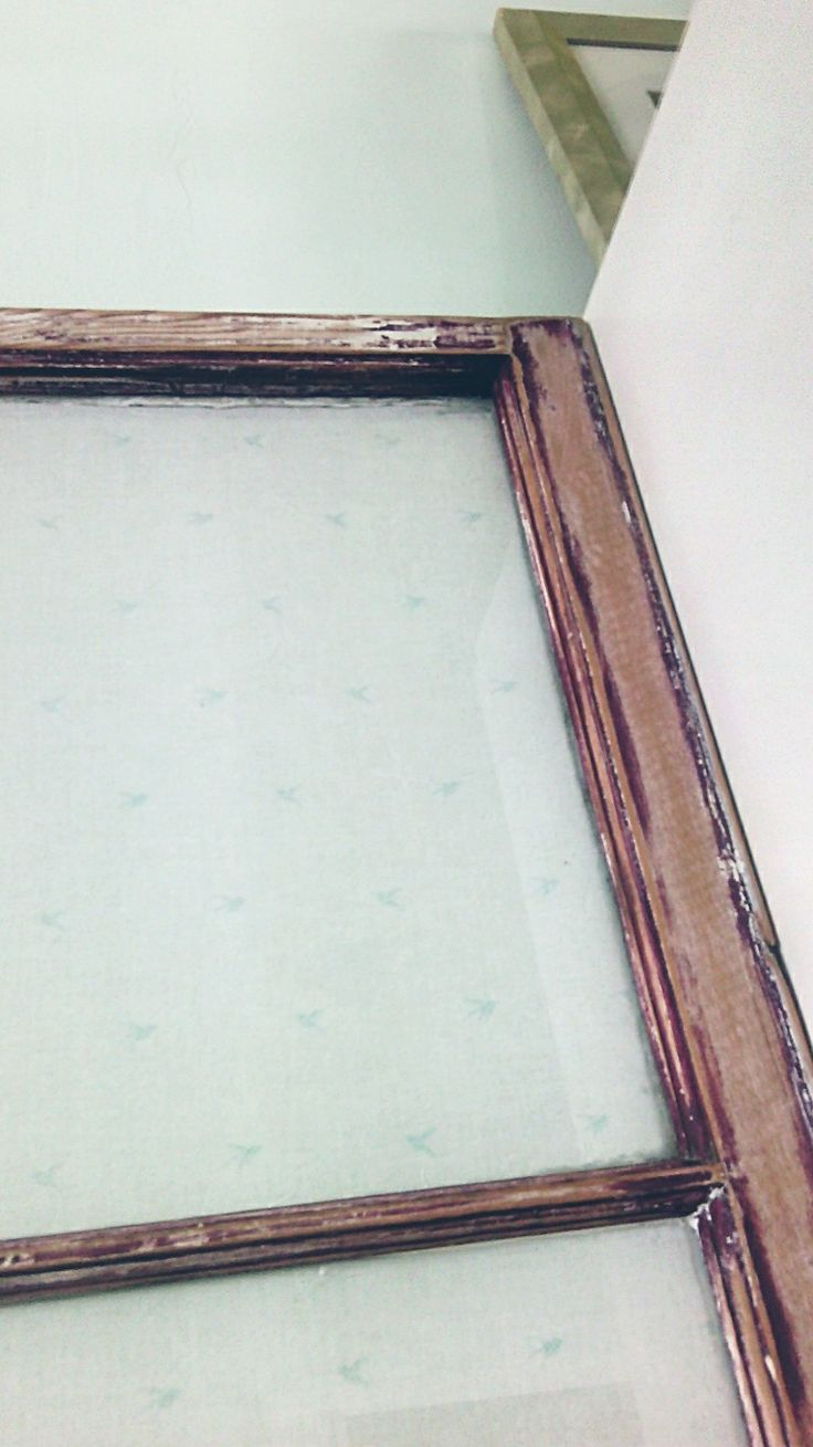 Cornstarch and water soaked fabric smoothed over the back of an antique window