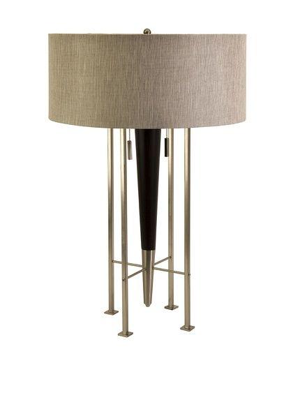 Spire table lamp dark walnut home décor habit the masculine library event ends lights fantasticfurniture