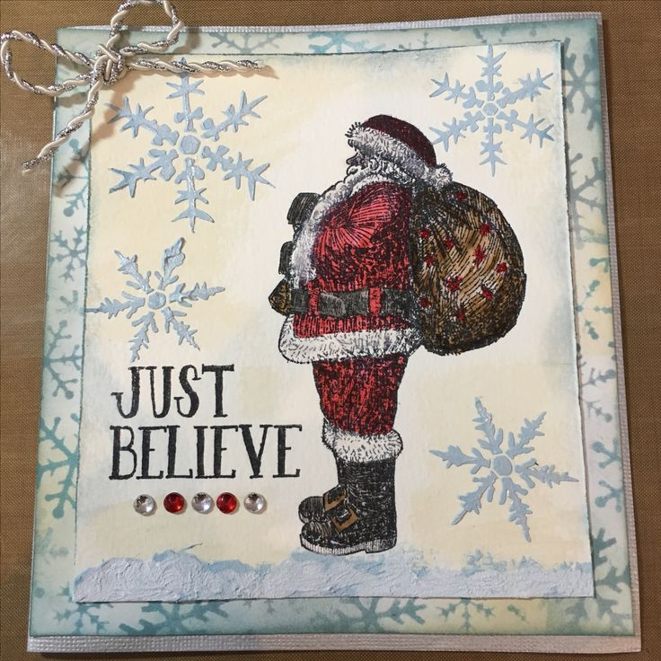 Santa - Christmas card, Tim Holtz stamp