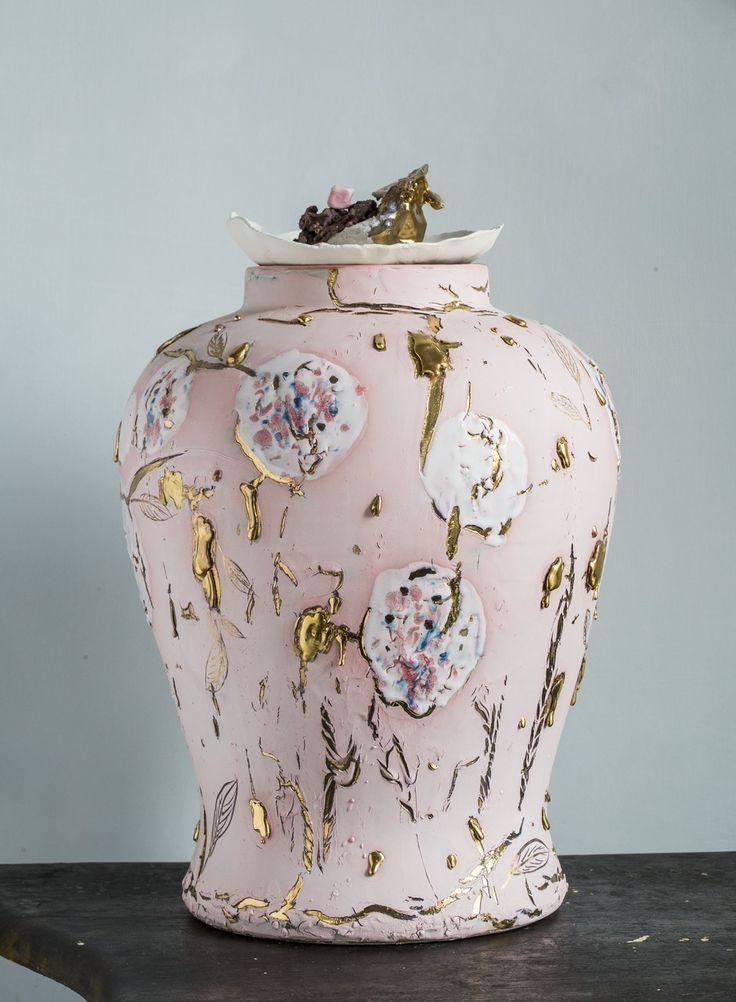 Porcelain jar CorallaMaiuri design /Ludek&Co