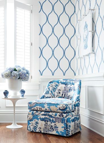 Best 25 Blue And White Wallpaper Ideas On Pinterest Bathroom Wallpaper Luxury Bathroom
