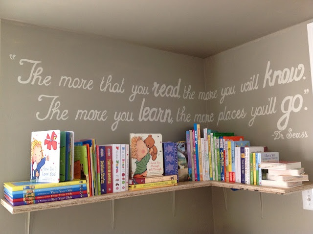I can't wait for my baby to have her own room so I can set up her library!