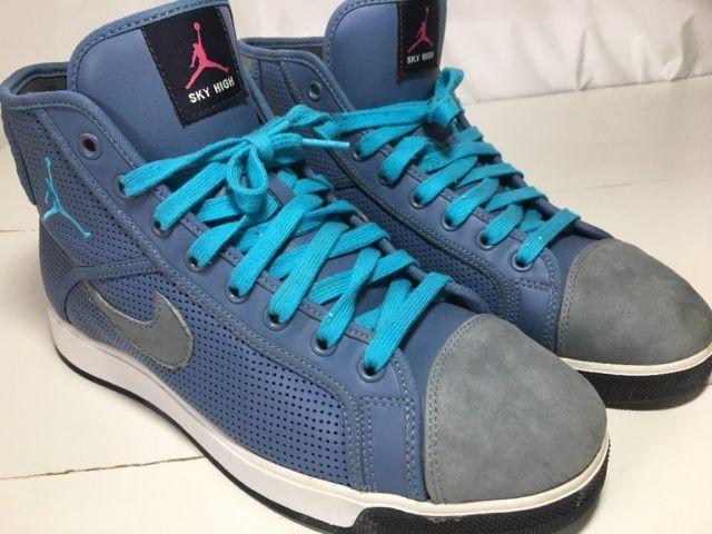 Nike Men's Basketball Shoes Sky High Air Jordan Blue Gray, Retro 414960-402 10.5 | eBay