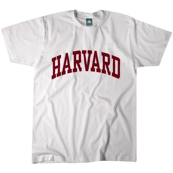 Harvard T-Shirt Classic (White) ($20) ❤ liked on Polyvore featuring tops, t-shirts, white cotton t shirts, cotton t shirts, white tee, white cotton tops and cotton tees