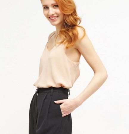 New Look MISCHA Top light brown