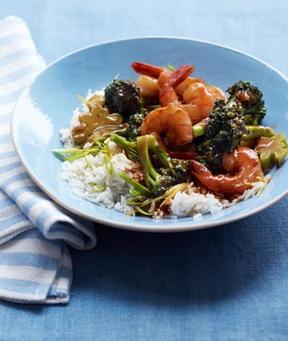 Shrimp, Broccoli And Scallion Fried Rice Recipe — Dishmaps