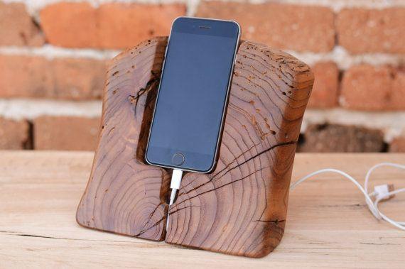 iPhone 6 Stand i6 Dock Holz Holz 6 s iPhone Docking von WoodRestart