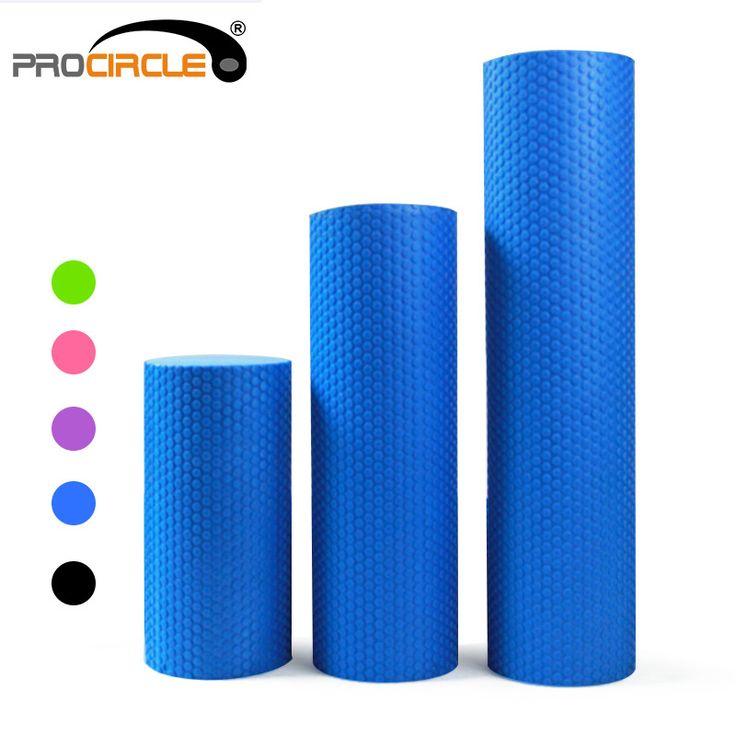 Procircle rullo di schiuma eva in virgola mobile solido accupoint tessuto muscolare massaggio fitness yoga pilates rulli