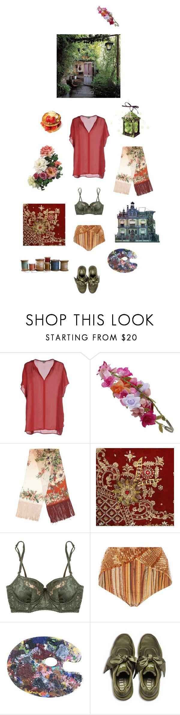 """""""Untitled #2380"""" by zoella ❤ liked on Polyvore featuring Vince, Accessorize, Jean-Paul Gaultier, Elle Macpherson Intimates, Água de Coco and Puma"""