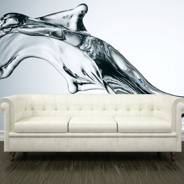 Water in my living room!: Living Rooms, Wall Murals, Boys Rooms, Water Walls, Demo Rooms