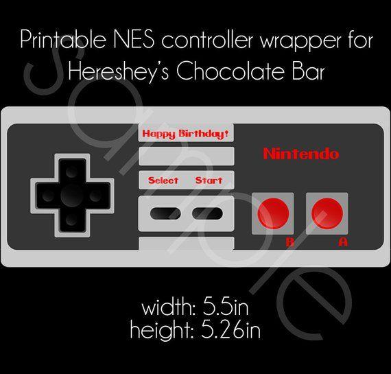 Printable Nintendo Nes Controller Hershey S Chocolate Bar Wrapper