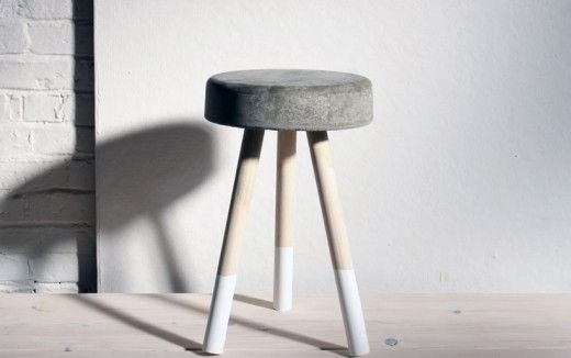 DIY concrete stool by Home Made Modern