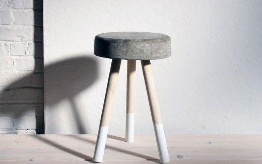 DIY concrete stool by Home Made Modern