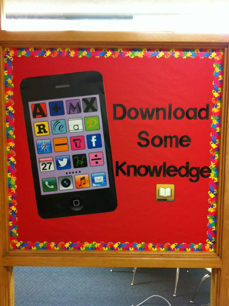 Made a giant iPhone for my bulletin board! (Original Pin by Emmie8822)