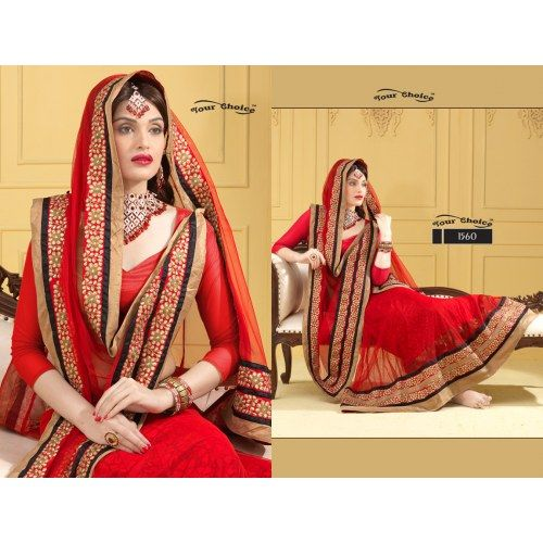 Thankar Designer Pink and Red Lehenga