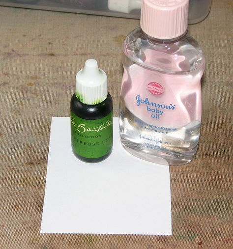 baby oil and reinkers to make translucent paper with color