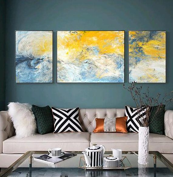 3 Pieces Nordic Abstract Painting On Canvas Wall Art Wall Pictures
