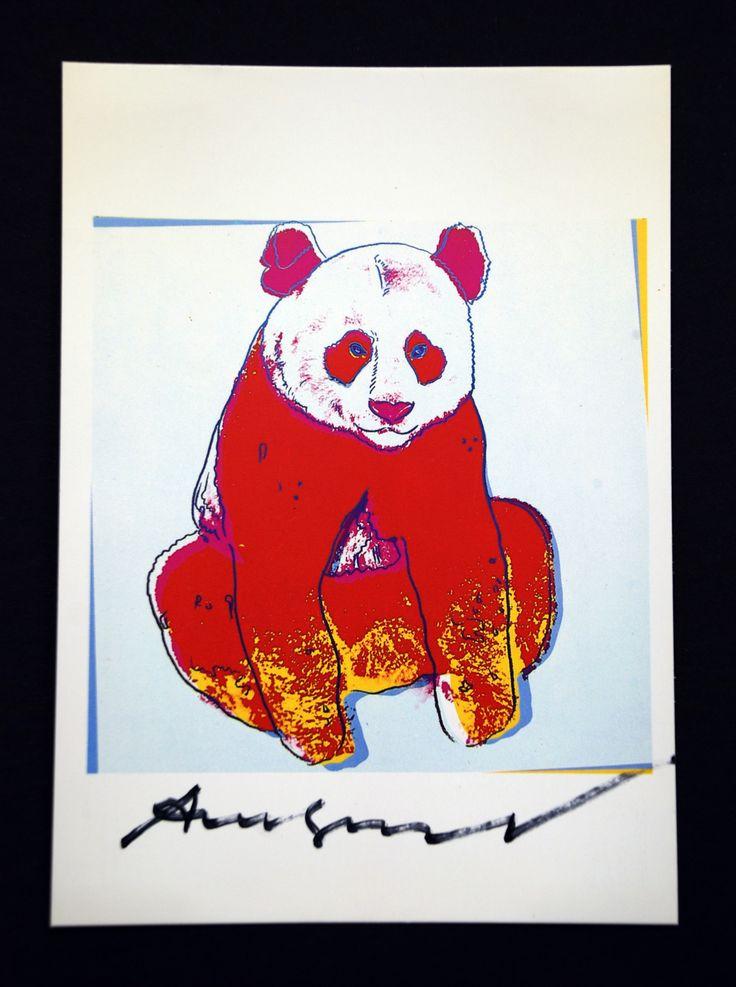 Andy Warhol Panda Signed Bookplate