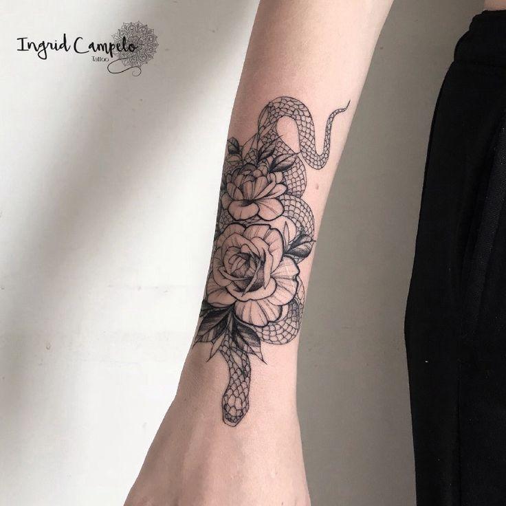 Das Phänomen der Blumen-Tattoos in Blackwork und Fineline – #blackwork #blumen …