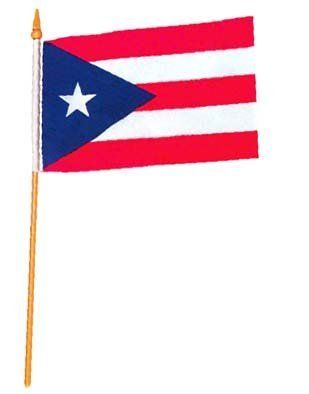 Puerto Rico Flag 12 x 18 inch by US Flag Store. $1.82. Mounted on a 24 Inch Wood Stick with Spear Tip. Puerto Rico Flag. Imported. Low Cost Shipping Available. A Quality Printed Flag with Sewn Edges. High quality Puerto Rico Flag 12 x 18 inch, mounted on a 24 inch wooden stick. This state flag is made from polyester and printed in bright colors. The flag is attached to the stick with a sleeve and not staples. Each flag is individually sewn around the edges. We also offer...