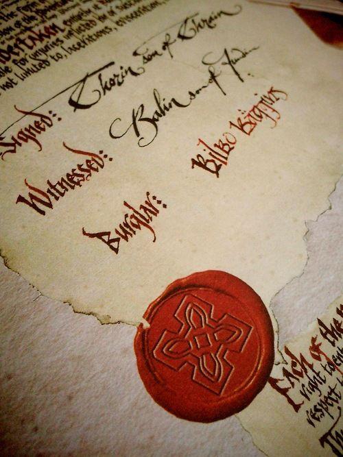 Bilbo baggins handwriting alphabet