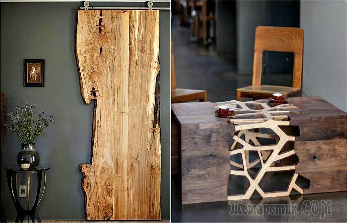 Натуральная красота: 18 уникальных изделий из дерева, которые сделают интерьер изысканным и уютным