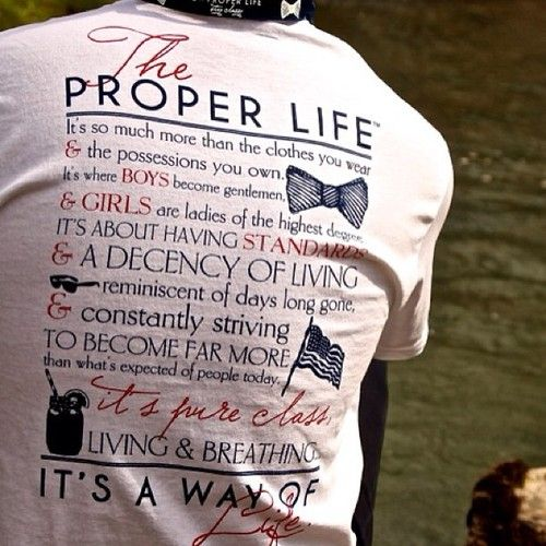 The Proper Life 'Way of Life' tee.  Available at http://www.etsy.com/shop/ProperKidProblems