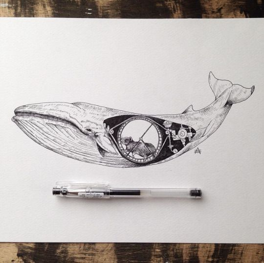 Surreal Illustrations by Alfred Basha #illustration #drawing #surreal